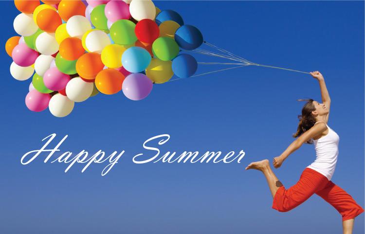 Glücklich im Sommer!